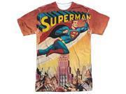 Superman City Flying (Front Back Print) Mens Sublimation Shirt