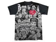 I Love Lucy Faces Mens Sublimation Shirt 9SIA29237B8614