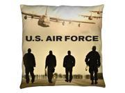 Air Force Long Walk Throw Pillow White 16X16 9SIA00Y5TM1090
