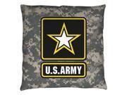 Army Patch Throw Pillow White 14X14 9SIA00Y5TR9010