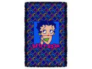 Betty Boop Pop Betty Woven Throw Tapestry 36X60 White One Size 9SIA00Y5TN0862