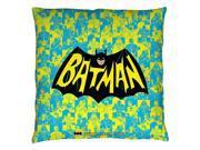 Trevco BMT157-PLO3-20x20 Batman Classic TV Show Logo-Throw Pillow, White - 20 x 20 in.
