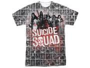 Suicide Squad Squad Splatter (Front Back Print) Mens Sublimation Shirt