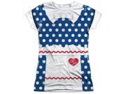 I Love Lucy Lucy Costume (Front Back Print) Juniors Sublimation Shirt 9SIA29248E8543