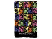 James Dean Color Block Fleece Blanket White 48X80 9SIA2923ZR2434