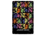 James Dean Color Block Woven Throw Tapestry 36X60 White One Size 9SIA00Y2370620