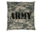 Army Camo Throw Pillow White 14X14 9SIA00Y5TP4671
