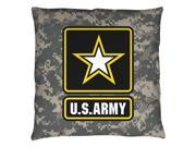 Army Patch Throw Pillow White 20X20 9SIA00Y5TP4622