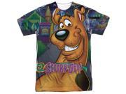 Scooby Doo Big Dog (Front/Back Print) Mens Sublimation Polyester Shirt