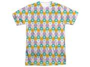 Adventure Time Hexagon Pattern (Front/Back Print) Mens Sublimation Polyester Shirt
