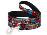 MARVEL COMICS Dog Leash - THE AMAZING SPIDER-MAN Stacked Comic Books Pet Leash 9SIA2926549024