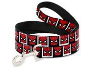 MARVEL COMICS Dog Leash - Spider-Man Face Black White Blocks 9SIA2926544697