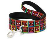 MARVEL COMICS Dog Leash - Spider-Man Face Multi Color Blocks 9SIA2926551409