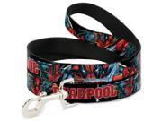 MARVEL UNIVERSE Dog Leash - DEADPOOL Action Poses Black Red 9SIA29265H5202