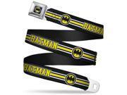 Bat Signal Fcg Black White Yellow Bo Black Batman Bat Signal Triple Web Belt 9SIA29265H3330