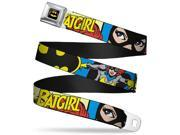 Batman Full Color Black Yellow Batgirl In Action W Face Close Up Webbing Seatbelt Belt