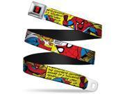 Marvel Comics Spider Man Full Color Spider Man Comic Swinging Through Seatbelt Belt 9SIA29265G8807