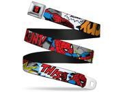 Marvel Comics Spider Man Full Color Spider Man W Action Verbiage  Seatbelt Belt 9SIA29265H6562