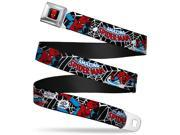 Marvel Comics Spider Man Full Color Seatbelt Belt Spider Man In Action2 W Seatbelt Belt 9SIA29265H3744
