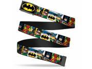 Batman Fcg Black Yellow Chrome Batman & Robin Action Panels Webbing Web Belt 9SIA29265H7821