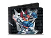 Starscream Shooting Decepticon Logo + Text Standing Pose Bi Fold Wallet 9SIA29265H2135