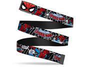 Marvel Comics Spider Man Face Close Up Fcg Black  Frame Spider Man In Web Belt 9SIA29265W6615