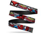 Marvel Comics Spider Man Face Close Up Fcg Bo Black The Amazing Spider Web Belt 9SIA29265W8747