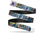 Superman Full Color Blue Superman Comic Panels  Webbing Seatbelt Belt 9SIA29265W9573