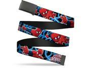 Blank Black  Buckle The Ultimate Spider Man Poses Spider web Black Web Belt 9SIA29265W7227