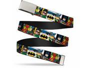 "Blank Chrome 1.0"""" Buckle Batman & Robin Action Panels Webbing Web Belt 1.0"""" Wide"" 9SIA29265W9040"