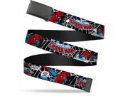 Blank Black Bo Buckle Jrny Spider Man In Action2 W Amazing Spider Man Web Belt 9SIA29265W6077