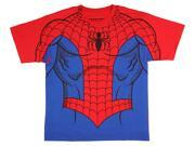 Marvel Comics The Amazing Spider-Man Youth Suit Up Sublimation Print Costume T-shirt 9SIA2926KR0339
