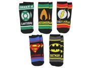 DC Comics Justice League Superhero Symbols Boys' 5 Pack Low Cut Ankle Socks 9SIA2926Y17713