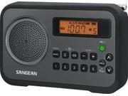 Image of Sangean PR-D18BK AM/FM Digital Portable Receiver with Alarm Clock (Black)