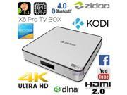 ZIDOO X6 Pro 4K UHD Android 5.1 Lollipop Smart TV Box RK3368 Octa Core Cortex A53 64bit 2G 16G Dual Band WIF HDMI 2.0 4K*2K H.265 KODI 3D Media Player Streamer Gigabit LAN