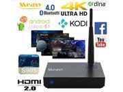 Measy B4TS 4K Ultra HD Android 5.1 Lolilpop 64bit CPU TV Box Penta Core GPU Media Player Streamer KODI XBMC HDMI 2.0 Bluetooth 4.0 WiFi H.265 HEVC