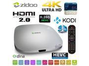 NEW ZIDOO X5 Android 5.1 4K TV BOX Amlogic Quad Core S905 64bits Cortex A53 Media Streamer Player 1GB RAM 8GB Flash WIFI Bluetooth KODI HDMI 2.0 H.265 2160P