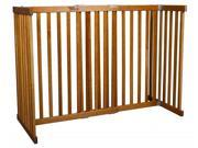 Free Standing Pet Gate Small Tall Mahogany 42305