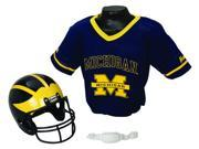 Michigan Wolverines Youth NCAA Helmet and Jersey Set