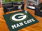 "NFL - Green Bay Packers Man Cave All-Star Mat 34""x45"""