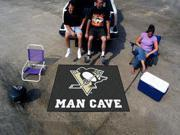 Fanmats NHL - Pittsburgh Penguins Man Cave Tailgater Rug 5'x6'