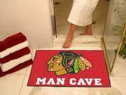 "Fanmats NHL - Chicago Blackhawks Man Cave All-Star Mat 33.75""x42.5"""