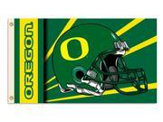 BSI Products 92351 Oregon Ducks- 2-Sided 3 ft. X 5 ft. Flag W-Grommets 9SIV06W2ED1354