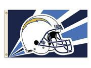 Fremont Die- Inc. 94219B 3 Ft. X 5 Ft. Flag W/Grommetts - San Diego Chargers 9SIV06W2ED4171