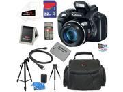 Canon SX50 PowerShot SX50 HS 12.1 MP Digital Camera with 50x Optical IS Zoom + NB-10L Battery + 9pc Bundle 32GB Best Camera Kit