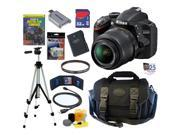 Nikon D3200 24.2 MP CMOS Digital SLR Camera (Black) with 18-55mm f/3.5-5.6 AF-S DX VR NIKKOR Zoom Lens + EN-EL14 Battery + Nikon Filter + 32GB Deluxe Accessory
