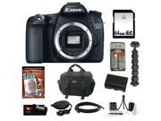 "Canon 70d EOS 70D 20.2 MP Digital SLR Camera w/ Dual Pixel CMOS AF (Body Only) + 64GB Memory Card + Replacement Battery + Card Reader + Camera Case + Spider Tripod 10"" + Accessory Kit"