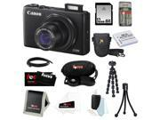 Canon PowerShot S120 12.1 MP CMOS Digital Camera Bundle with 32GB SD Memory Card + Replacement Battery for NB-6L + Deluxe Point & Shoot Camera Case + 7-inch Spi