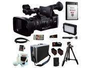 """Sony FDRAX1 FDR-AX1 4K Camcorder Video Camera + Sony 32GB XQD Memory Card + Sony VCT-R100 39"""" Tripod + (2) Replacement NP-F970 Battery and Charger + Accessory Kit"""