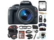 Canon EOS Rebel SL1 18MP Digital SLR with 18-55mm EF-S IS STM Lens and 3-inch Touch Screen + 64GB SDHC + Replacement LP-E12 Battery + Card Reader + Tamrac Camer